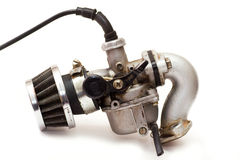 Carburettor. Old carburettor isolated on white Royalty Free Stock Images