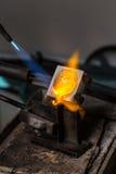 Carcaça do metal com maçarico imagem de stock royalty free