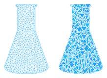 Carcaça poligonal Mesh Chemical Retort e ícone do mosaico ilustração stock