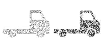 Carcaça poligonal Mesh Delivery Car Chassi e ícone do mosaico ilustração royalty free