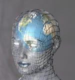 Carcaça principal um globo Fotos de Stock Royalty Free