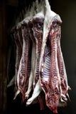 Carcaças de porco Imagens de Stock