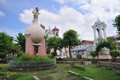 carcar cebu stadsphilippines plaza arkivfoton