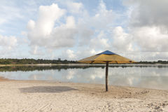 Carcara lagun, Nizia Floresta, RN, Brasilien arkivfoto