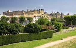 carcasonne全景的法国 免版税库存照片