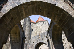 carcasonne城堡法国 图库摄影