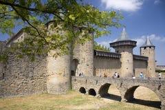 carcasonne城堡法国 库存图片