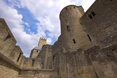 Carcasonne, France. Between the medieval walls. Carcasonne, France Royalty Free Stock Image