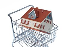 Carcass house in shopping cart Stock Photo