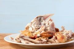 Carcassa del pollo arrosto Fotografia Stock Libera da Diritti