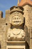Carcassa di Dame della statua di Carcassonne immagini stock libere da diritti