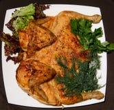 Carcasse grillée de tabac frite par poulet Image stock