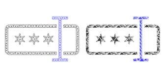 Carcasse polygonale Mesh Password Field et icône de mosaïque illustration de vecteur