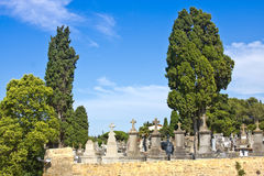 CARCASSON, FRANCE - JULY 7, 2016: Old cemetery of city Carcassonne, province Languedoc - Roussillon, France Stock Photography