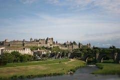 Carcassona Francia scenica fotografia stock libera da diritti