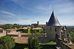 Carcassone city detail Stock Photo