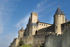 Carcassone fortress. Languedoc, France. Royalty Free Stock Images
