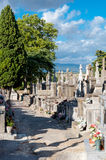 Carcassone Graveyard walking paths. In France Royalty Free Stock Image