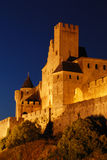 Carcassone at Night Stock Images