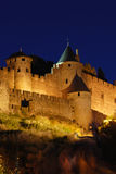 Carcassone at Night Stock Photos