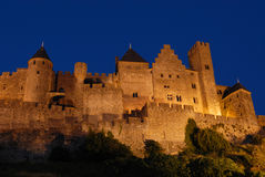 Carcassone at Night Royalty Free Stock Photography