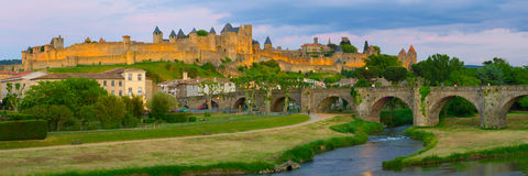 Carcassone in a summer evening Royalty Free Stock Photo