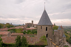 Carcassone Tower Stock Photo