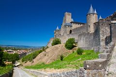 Carcassone wall Royalty Free Stock Images