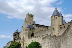 carcassonne城堡南的法国 库存图片