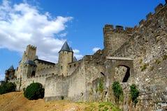 carcassonne城堡南的法国 免版税图库摄影