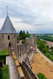 carcassonne城堡南的法国 免版税库存照片
