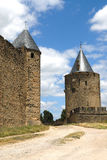 carcassonne城堡塔 图库摄影