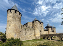carcassonne城堡法国科教文组织 城堡 免版税图库摄影