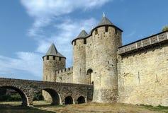carcassonne城堡法国科教文组织 城堡 免版税库存图片