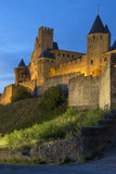 Carcassonne城堡-法国 库存照片