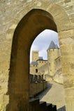 carcassonne城堡 库存图片