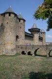 carcassonne墙壁 免版税库存图片