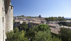 carcassonne村庄 免版税库存图片