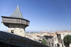 carcassonne村庄 库存图片