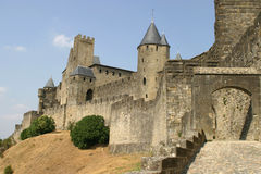 Carcassonne. Fortified city, Languedoc Roussillion, France stock images