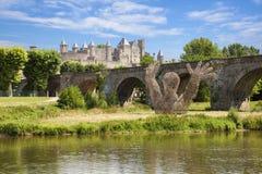 замок carcassonne Стоковое Изображение RF