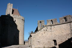 Carcassonne castle. Medieval city of Carcassonne,Languedoc region of France Royalty Free Stock Photos