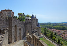 Carcassonne castle in France Royalty Free Stock Images