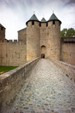 Carcassonne Castle in a gloomy mood Royalty Free Stock Images