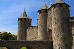 Carcassonne castle Stock Image