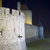 Carcassonne castle at night Stock Image