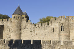 Carcassonne castle path Royalty Free Stock Images