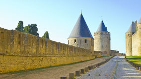 Carcassonne castle path Royalty Free Stock Photography