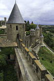 Carcassonne castle tower, france Stock Photography