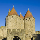 Carcassonne castle tower Stock Photography